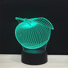 3D Colorful Table Lamps USB LED Lamp APPLE Night Lights Bedroom Wedding Decoration Home Holiday Decor kids gifts for baby child цена
