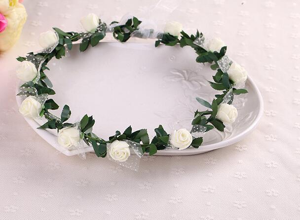 10pcs/lot free shipping bohemian style woman flower headwear lady pe flower wreath female wedding flower crown