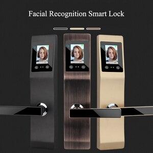Image 3 - Keyless חכם intelligent נעילת Palmprint פנים זיהוי פנים דלת מנעול לבית משרד מנעול אבטחת בקרת גישה