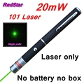 [RedStar]50PCS/LOT 20mW 101 Green Laser pen only single point laser pointer teacher pointer indicative pen without AAA battery