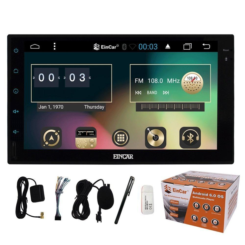 7 Android 6 0 Car Without DVD Player Double Din 1024 600 Universal Autoradio GPS Navigation