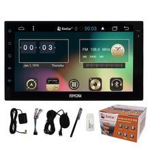 """7 """"Android 6.0 Coche sin Reproductor de DVD Doble Din 1024*600 Universal Autoradio Radio de Navegación GPS BT PC Quad core Reproductor de música estéreo"""