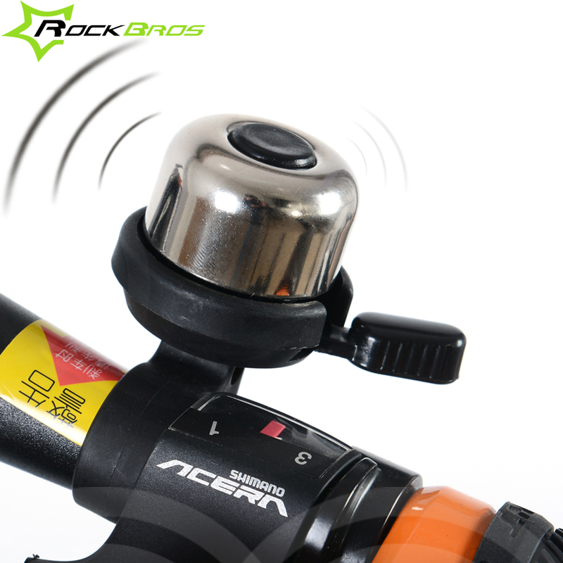 ROCKBROS Bicycle Bell Easy to Install,Loud&Clear Sound,90-100DB Bicycle Horn Copper,Sliver Bike Bell Bike Horn Handlebar Horn
