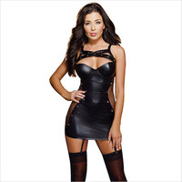 Lady Women Sexy Lingerie Hot Porn Erotic Teddy Lingerie Nightclub Leather Dress Plus Size Lingerie Sexy