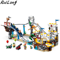 New Creators Builerds Set Pirate Roller Coaster 3 in 1 Compatible Legoing Creator 31084 Building Educational Toys Model Boy Gift