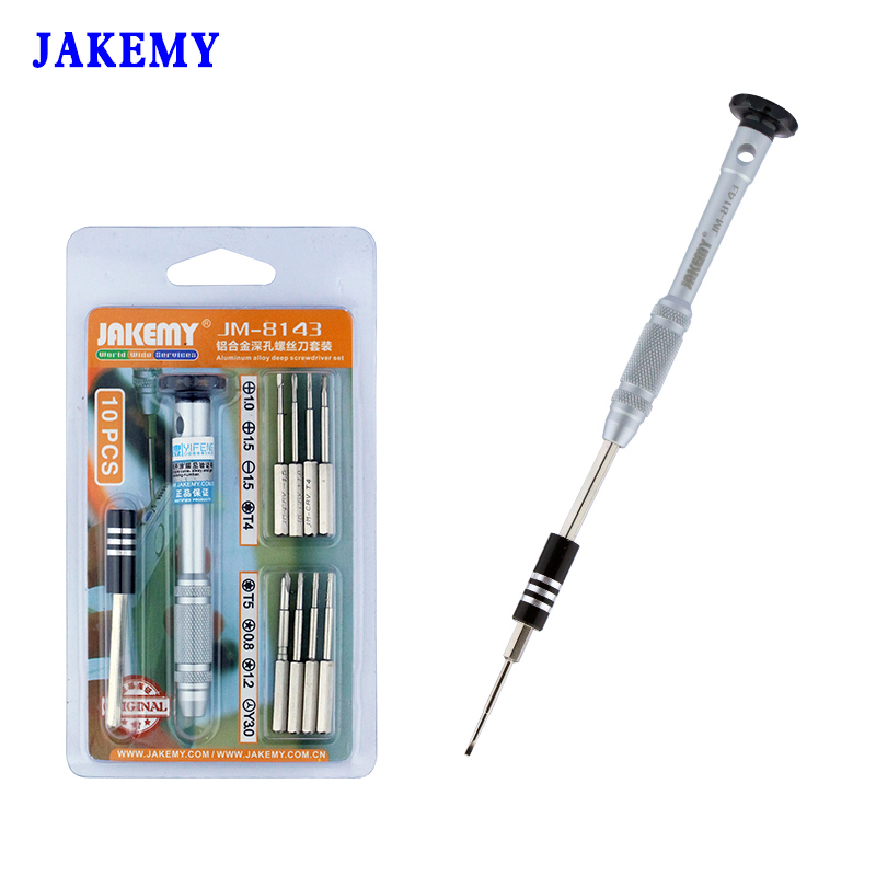 JAKEMY Precision Magnetic Screwdriver Set Bits Destornillador Tournevis Screwdriver For iPhone 6 5 5s Ipad Phone Repair Tool Set