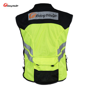 Image 2 - Rding Reflective Vest MOTO Waistcoat Non sleeve Clothing Motocross Off Road Racing Vest Motorcycle Touring Night Riding Jackets