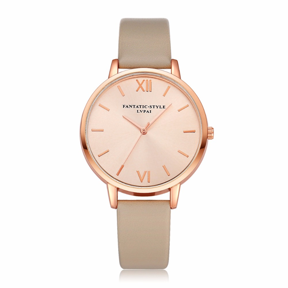 Lvpai Fashion Women Watches Luxury Analog Quartz Wristwatch Rose Gold Small Leather Female Clock Ladies Dress Watches Relogio Fe слипоны tesoro р 44 цв нави