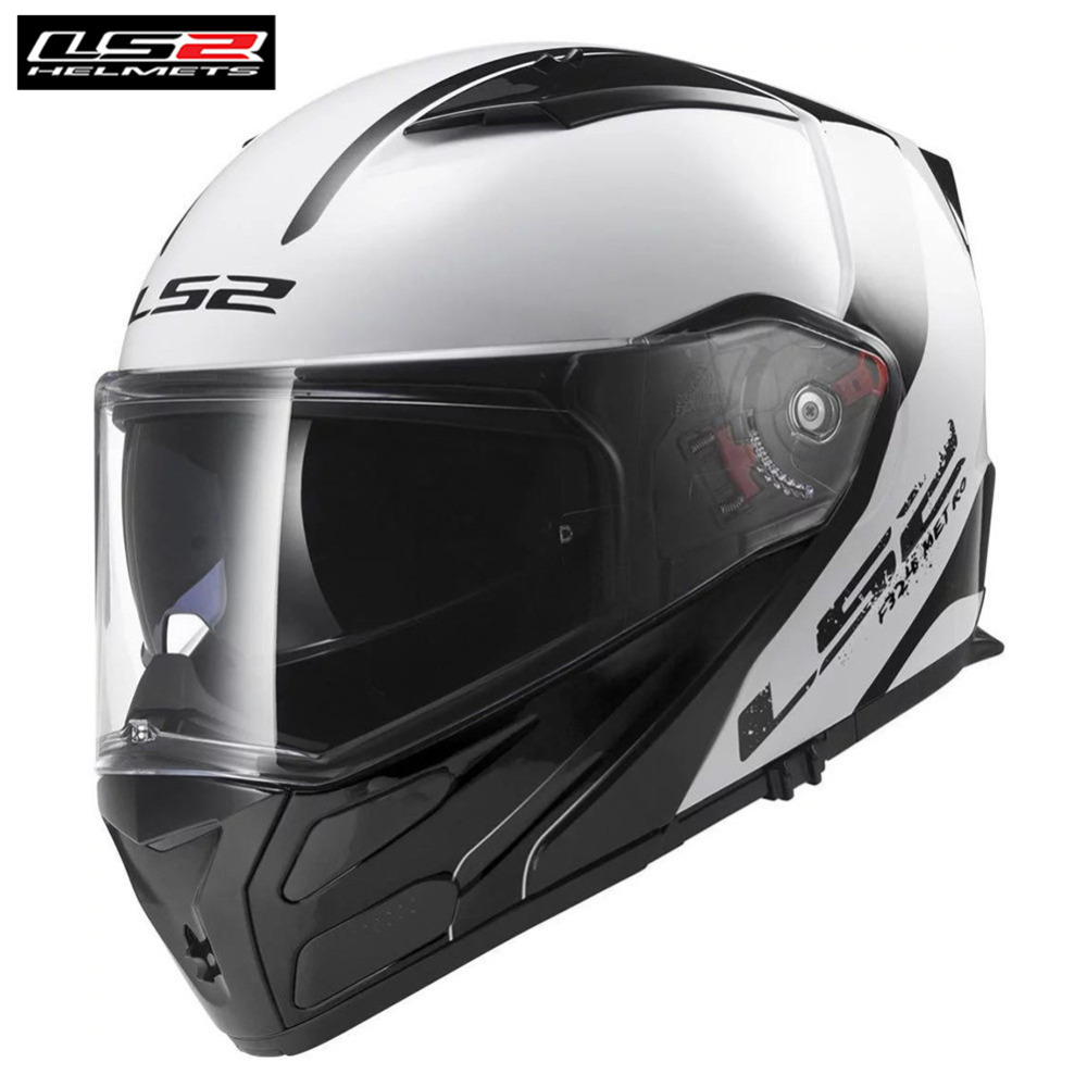 LS2 Touring Motorcycle Helmet Flip Up Full Face Modular Casco Casque Capacete Moto Open Helm Helmets Kask Metro FF324 original ls2 ff353 full face motorcycle helmet high quality abs moto casque ls2 rapid street racing helmets ece approved