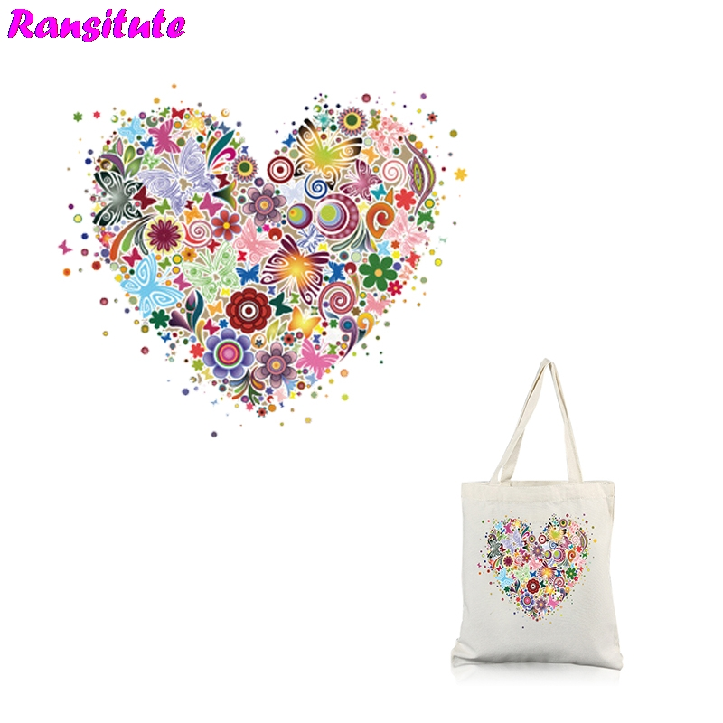 Ransitute R307 Rainbow Girl 2 Series Patch Thermal Transfer T-shirt Jacket Applique Backpack Print Washable Heat Transfer