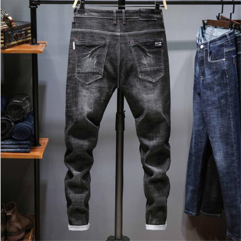 2017 Summer Man Baggy Jeans Plus Size 27 48 Loose Denim CARGO PANTS Leisure Straight Cotton