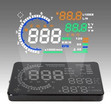 Hot sale! 5.5″ Large Screen Car HUD Head Up Display with OBD2 Interface Plug & Play A8 Car HUD Display Lowest Price!
