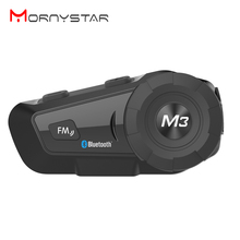 Bluetooth гарнитура для шлема, мотоциклетная гарнитура Mornystar M3 Plus, многофункциональные стереонаушники для двухсторонней серии Raido Easy Rider