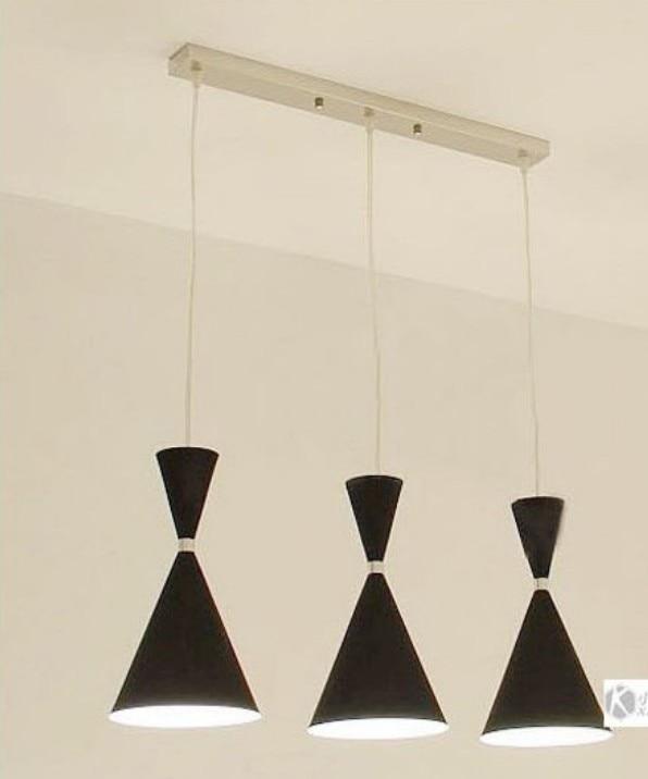 Modern Pendant chandelier 3 Lights Ceiling Lamp Fixture Red/Black/White color modern 3 color adjustable triangle