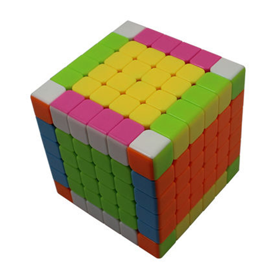 Color Cube Puzzle Twist Magic Cube Speed Intelligence Cube Twist Puzzle Spinner Hand Anti Stress Neo Cubo Magico 6x6x6 501971 magic cube iq puzzle star color assorted
