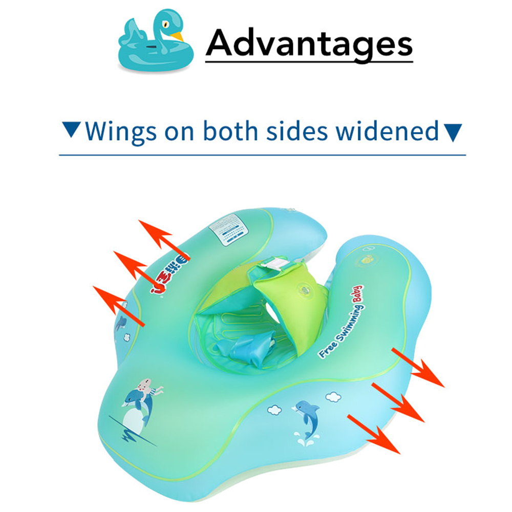 Baby Float Swimming Ring Kids Inflatable Swim Trainer Safety Aid ...