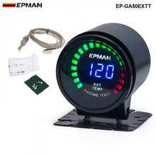 """Epman Racing """" 52 мм дымчатый цифровой цветной Аналоговый светодиодный датчик температуры выхлопных газов EXT с датчиком для BMW 6CY EP-GA50EXTT"""