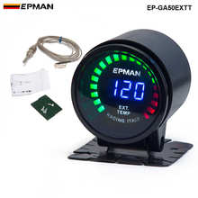 Epman Racing 2″ 52mm Smoked Digital Color Analog LED Exhaust Gas Temperature EXT Gauge With Sensor For BMW 6CY EP-GA50EXTT