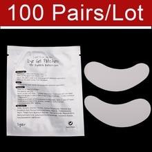 100 par / worek Podkładka pod oczy do przedłużania rzęs. Łatki do oczu Podkładka pod oczy żelowy i akcesoria