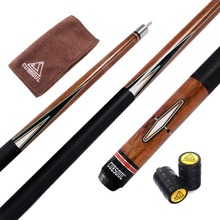 купить Cuesoul CSPC018 58 inch Canadian Maple Wood 1/2 Jointed Pool Cue Stick Billiard Cue Cue With Quick Release Joint, 13mm Cue Tips дешево