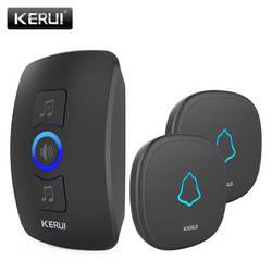 KERUI M525 Беспроводной дверной звонок Водонепроницаемая сенсорная кнопка Главная Безопасность Добро пожаловать Smart куранты дверной звонок
