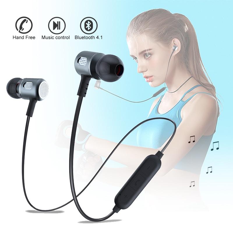 Magnetic In-Ear bluetooth earphone sport Earbuds music Wireless Headset for apple iphone s