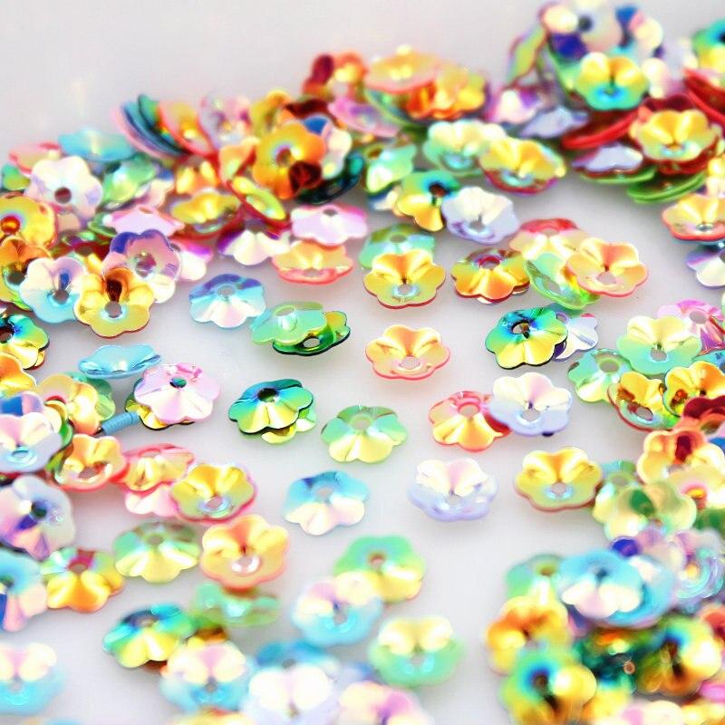 Новое поступление 200 шт. 6,5 мм Multi-Цвет по выбору 3D блесток цветок для Костюмы Accssory художественное оформление ювелирных изделий