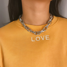 1PC Fashion Punk Big Thick Choker Necklace For Women Men Hip Hop Vintage Silver Gold Color Metal Chain Party Jewelry Gift