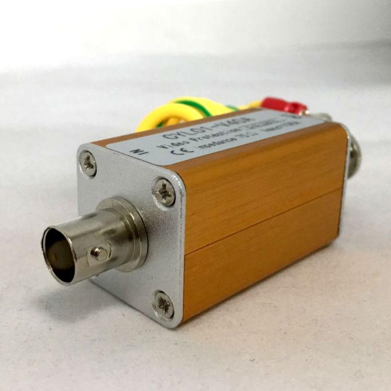 YiiSPO {10pcs}Surge Arrester BNC Male Signal Video Protector Thunder Lightning For AHD/tvi/cvi Coaxial Camera Analog Camera