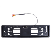 Anti Jamming European License Plate Frame Rear View Camera Auto Car 140 Degree Reverse Anti Fog