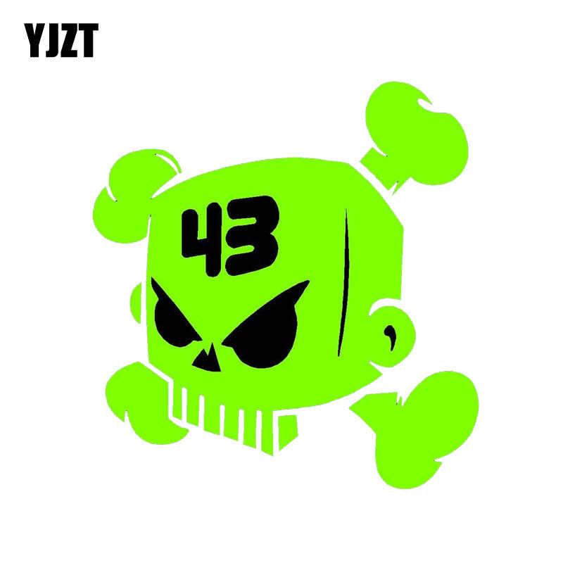 YJZT 13,8 см * 14,4 см Кен Блок череп JDM наклейка автомобильная наклейка из ПВХ аксессуары 6-0039
