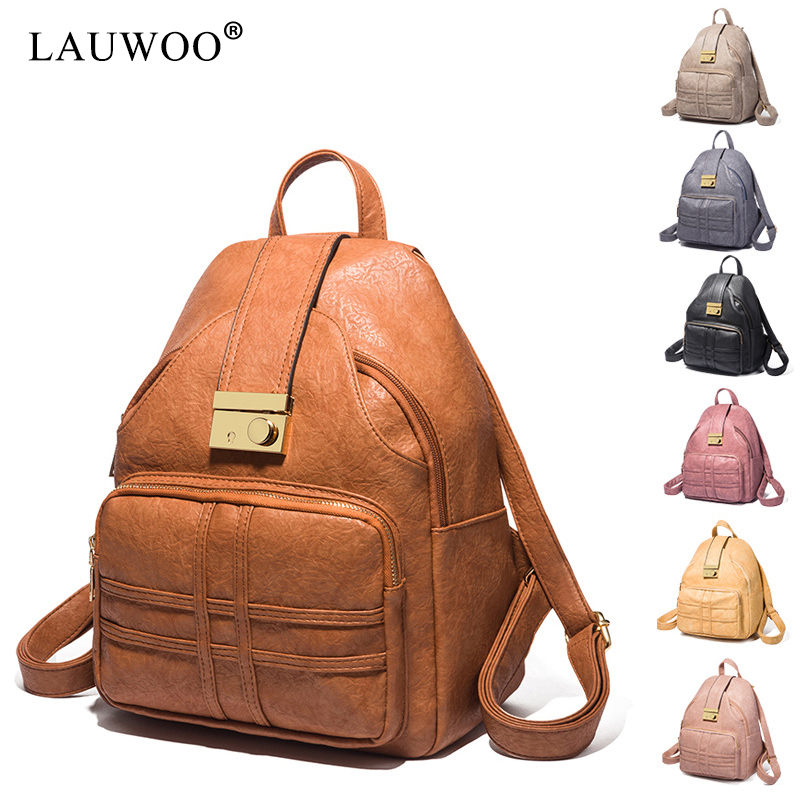 LAUWOO Backpack Purse For Women Mini Rucksack Travel For Girls Backpack Leather Bag Ladies Fashion Stylish Casual bags