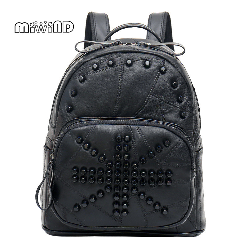 MIWIND Hotsale Backpack Women Leather Bag School Bags for Teenagers Leather Backpack Free Shipping Mochilas Feminina miwind new backpack women school bags for teenagers mochila feminina women bag free shipping leather bags women leather backpack