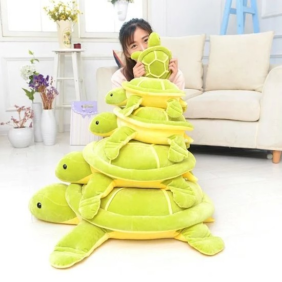 2017 DEC New Down Cotton Filled Sea Turtle Plush Toy 28cm