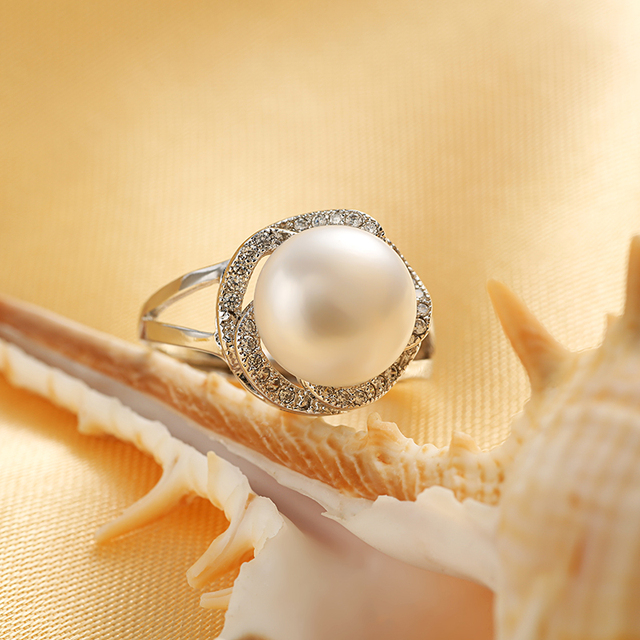 Adjustable Pearl Ring for Women