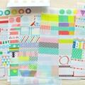 6 Hoja Kawaii Rainbow Mercado Sticker Transparente DIY Decorativo Scrapbooking Diario Planificador Pegajosa StickerNotes