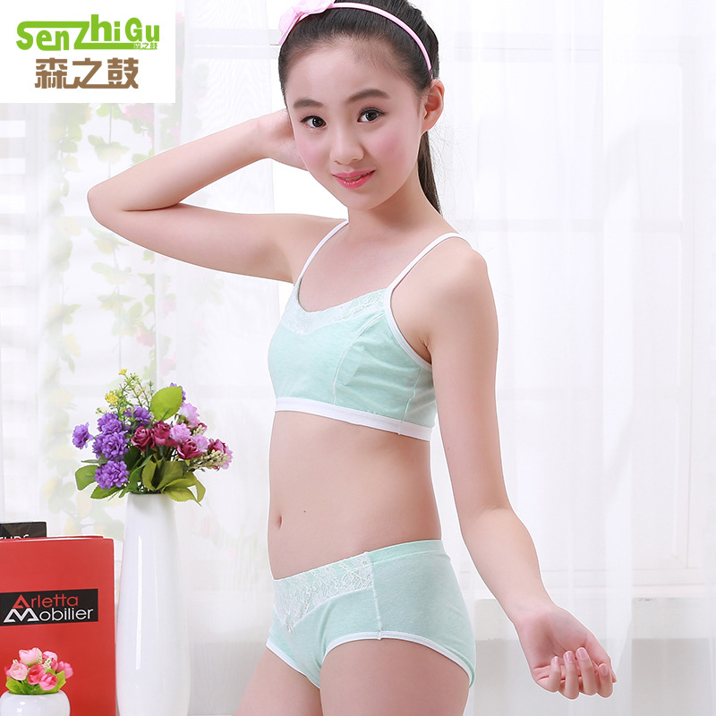 61daa28157 2019 Teenage Girls Clothing Underwear Bra   Brief Sets Young Girls ...