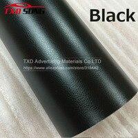 Premium quality Black Leather Grain Vinyl Leather Pattern Vinyl Sticker Internal Decoration Size:5FTX65FT(1.52*30m)/Roll