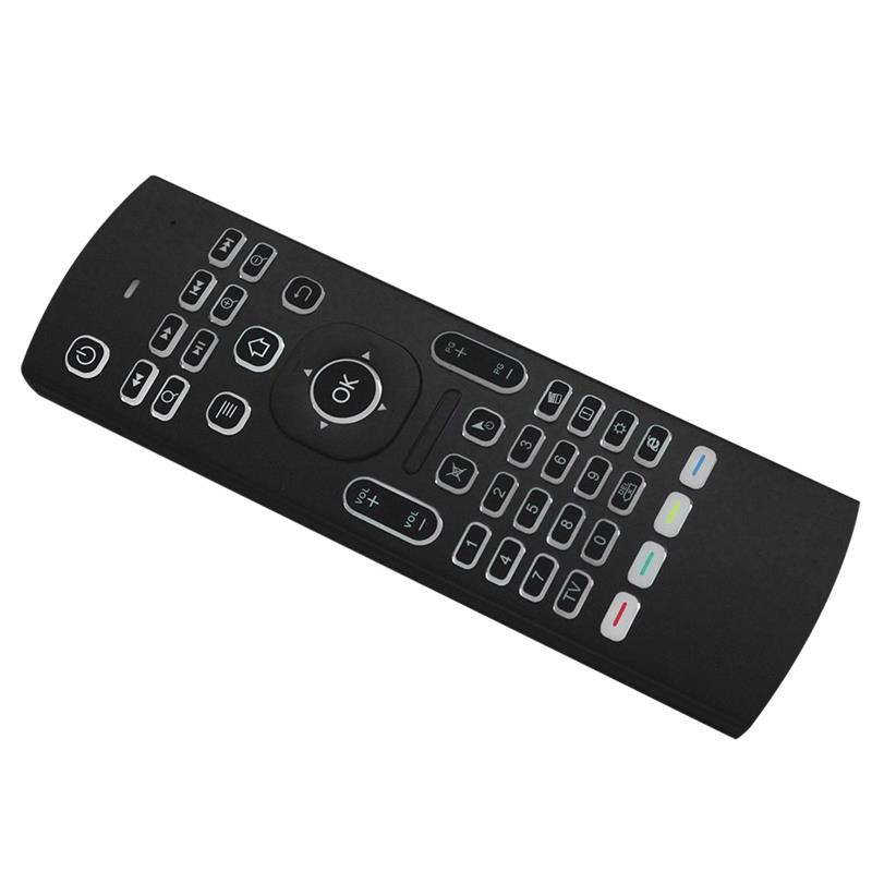 2.4G Air Mouse, Backlight 6-Axis Somatosensory Remote Control Motion Sensing Game Ir Learning Buttons Wireless Keyboard For Mi(China)