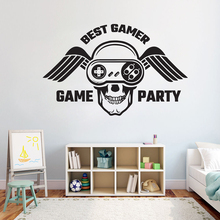 лучшая цена Gamer wall decal Eat Sleep Game wall decal Controller video game wall decals Customized For Kids Bedroom Vinyl Wall Art A1-017