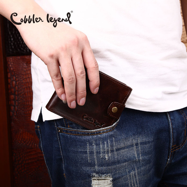 Cobbler Legend Real Cowhide Leather Bifold Clutch 1