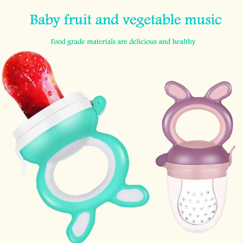nipple Infant Food Portable Baby Nipple Feeder Silicone Pacifier Fruits Feeding Supplies Soother Nipples Soft Baby Feeding Too