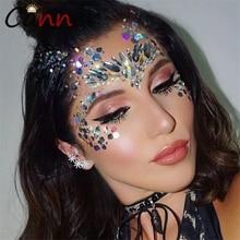 CANNER Fashion Shining Glitter Crystal Face Sticker Body Jewel Stickers Rhinestones Jewelry Women for Party FI