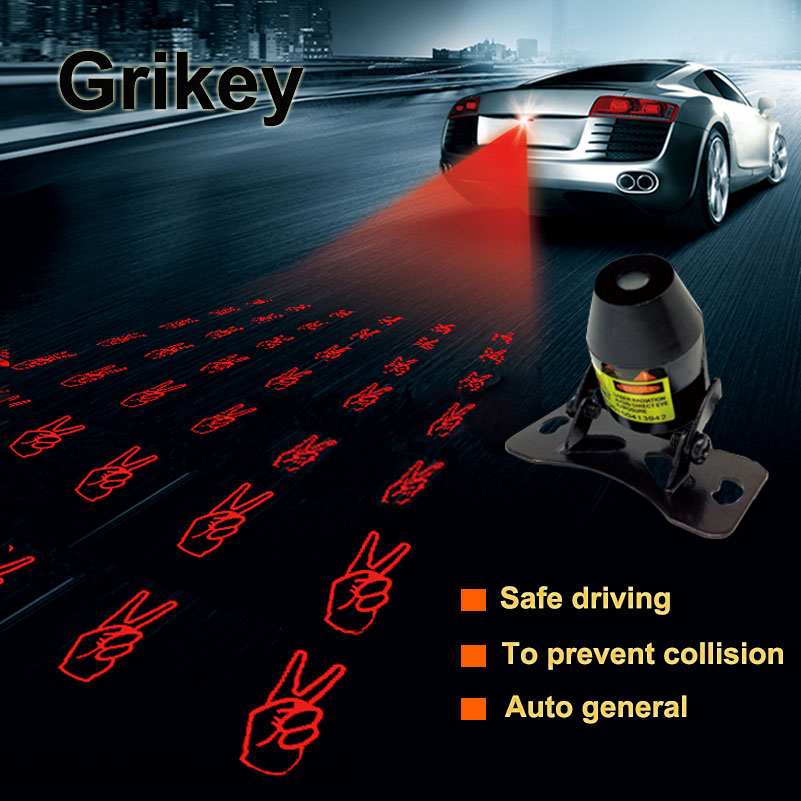 Car Warning Laser Fog Light Anti Collision Rear Lights Tail Brake Parking Lamp External Car Styling Laser Projector for chevy chevrolet lacetti matiz automotive anti rear fog light vehicle collision warning safety laser fog lights