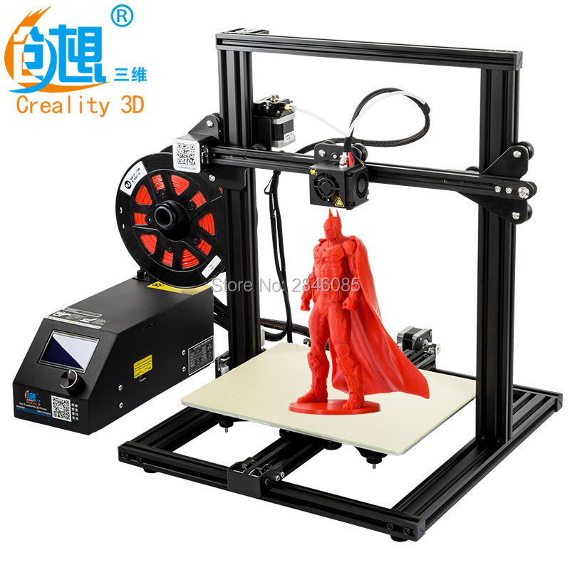 CREALITY 3D Printer CR-10 Mini DIY 3D Printer Kit Large Printing Size 300*220*300mm Resume After Power off 3D Printer DIY Kit 2018 flsun i3 3d printer diy kit dual nozzle touch screen large printing size 300 300 420mm two roll filament for gift