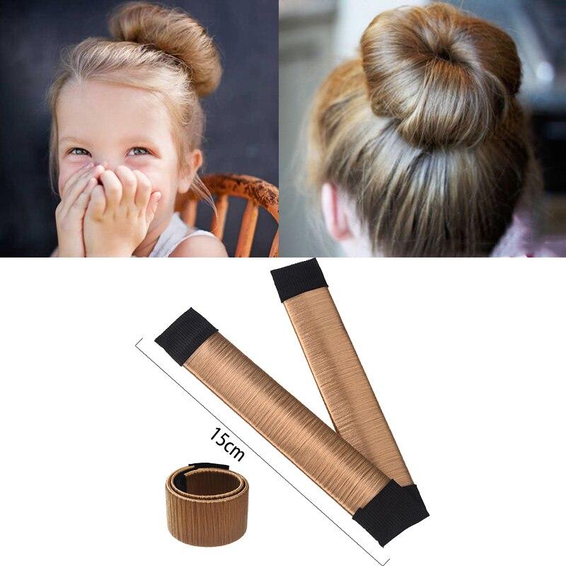 Заколка твистер с искусственными волосами MISM 15 см|bun maker|hair bandchildren band | АлиЭкспресс