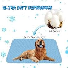Self Cooling Gel Mat Dog Cat Pet Cool Pillow Hot Weather Large Bed Pads UK