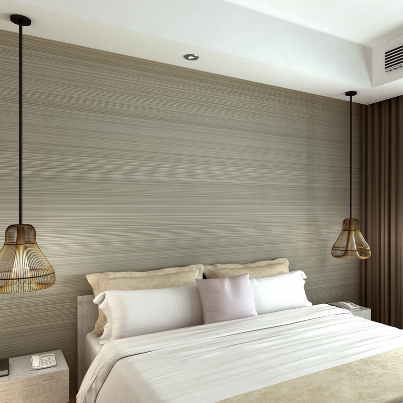 Beibehang dark gray wallpaper simple plain fine striped for Cheap plain grey wallpaper