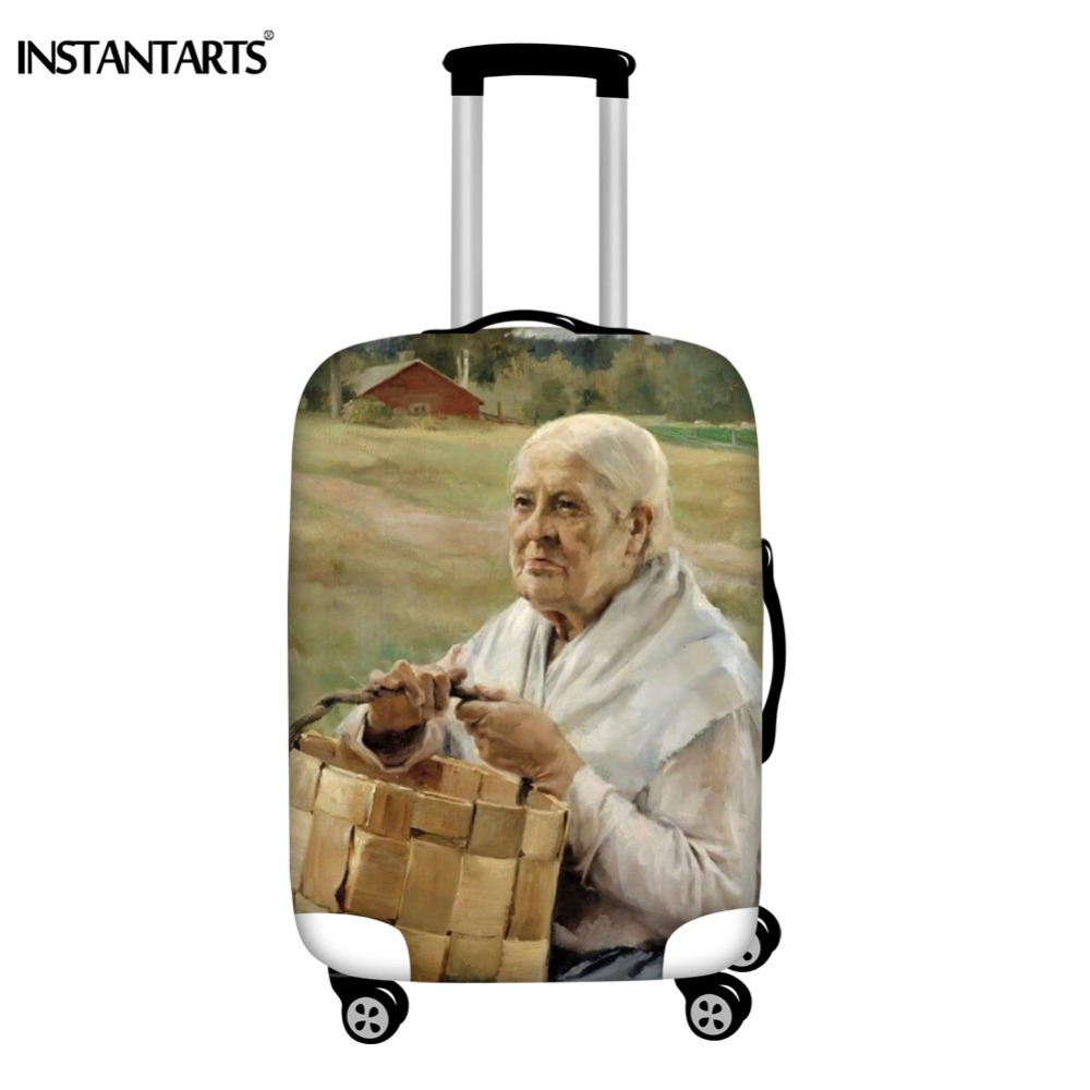 INSTANTARTS Popular Stylish Painting Design Luggage Cover Apply To 18