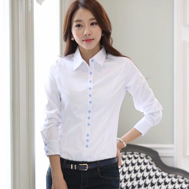 HTB16tMnLXXXXXXvaXXXq6xXFXXX2 - Casual Blouse Long Sleeve Femininas Ladies Work Wear Tops Shirt